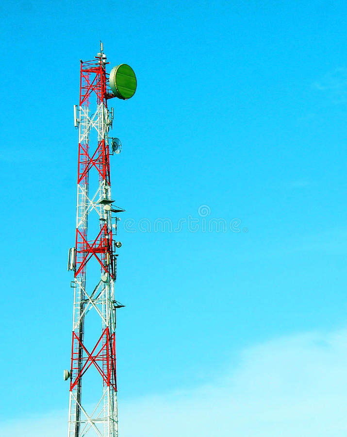 Download Communications tower stock photo. Image of wave, base - 23593334