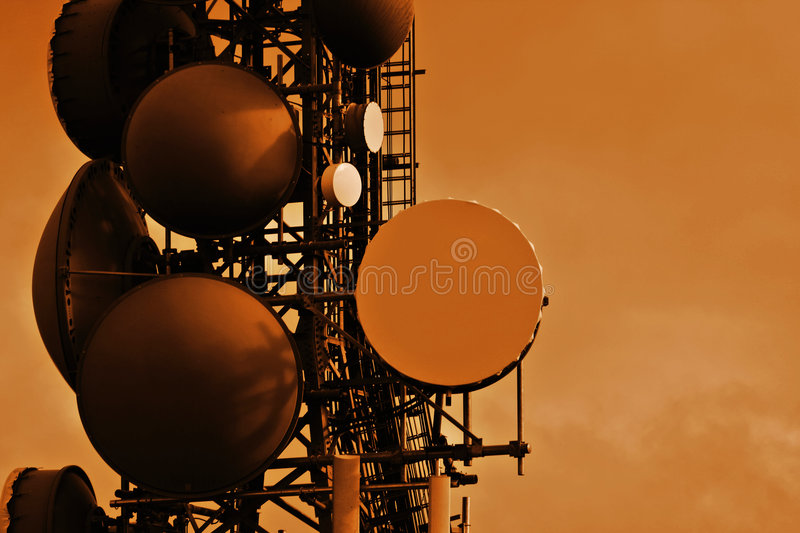 Download Communications Tower stock image. Image of busy, domes - 2447607