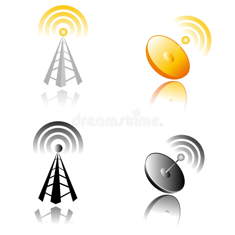 Download Communications Tower stock vector. Image of fashioned - 26138575
