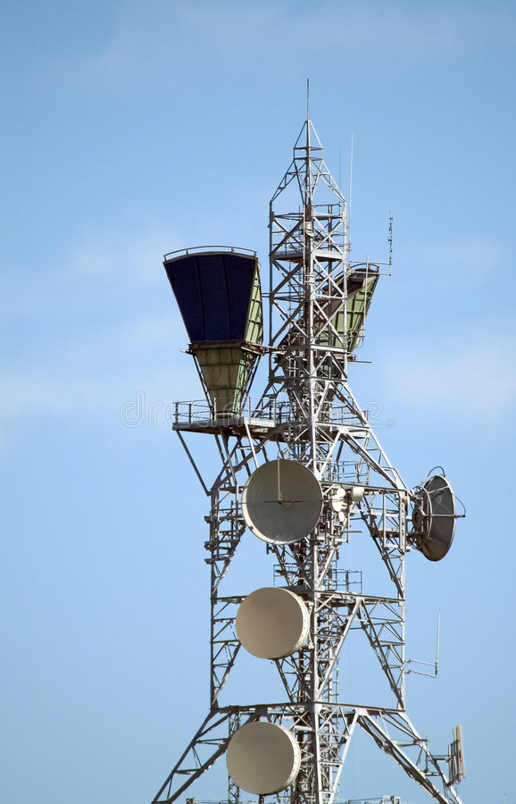 Download Communications tower stock photo. Image of industry, antenna - 27820