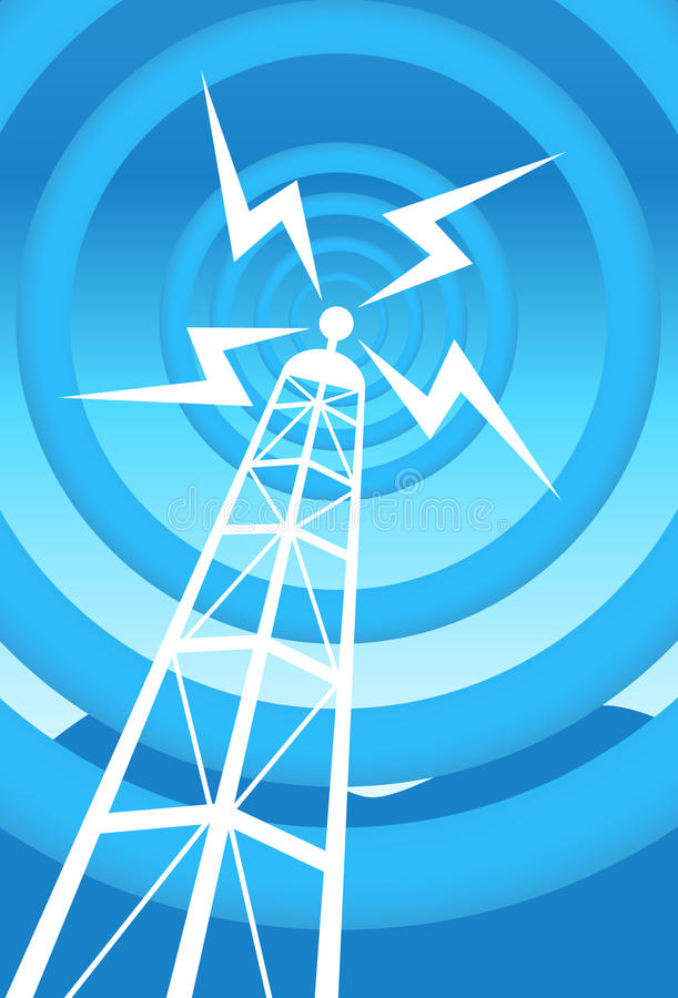 Download Communications Tower stock vector. Image of metal, communication - 9437283