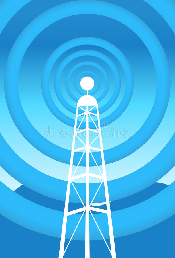 Download Communications Tower stock vector. Image of background - 9437498