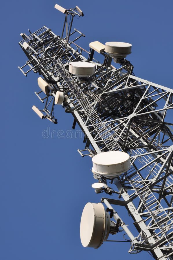 Communications tower royalty free stock photos