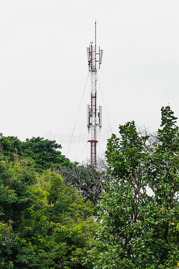 Download Communications tower stock image. Image of building, phone - 31617665