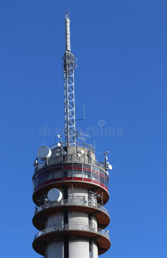 Communications tower of KPN in the Beatrixkwartier in Den Haag in the Netherlands. stock photos