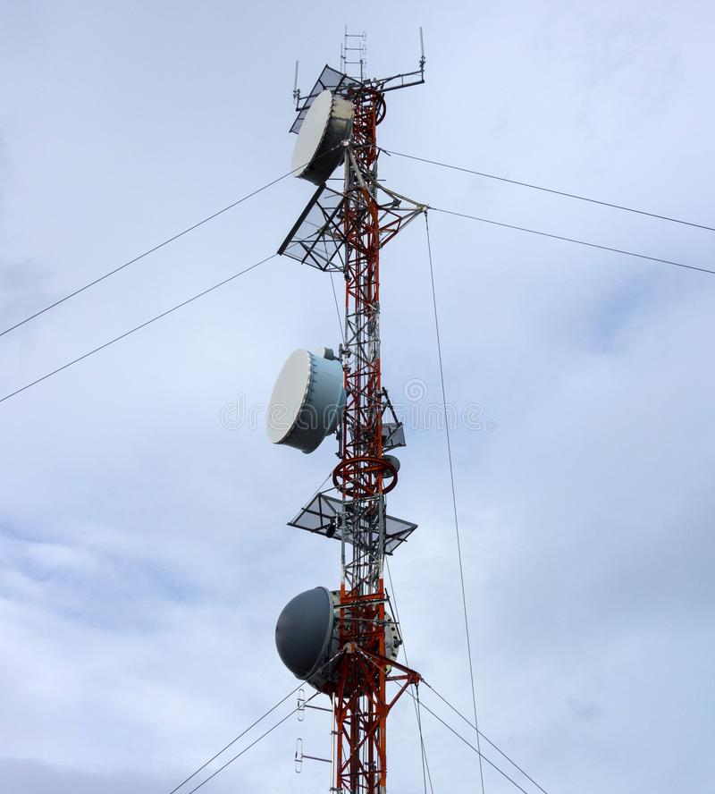 A communications tower in northern canada royalty free stock photos