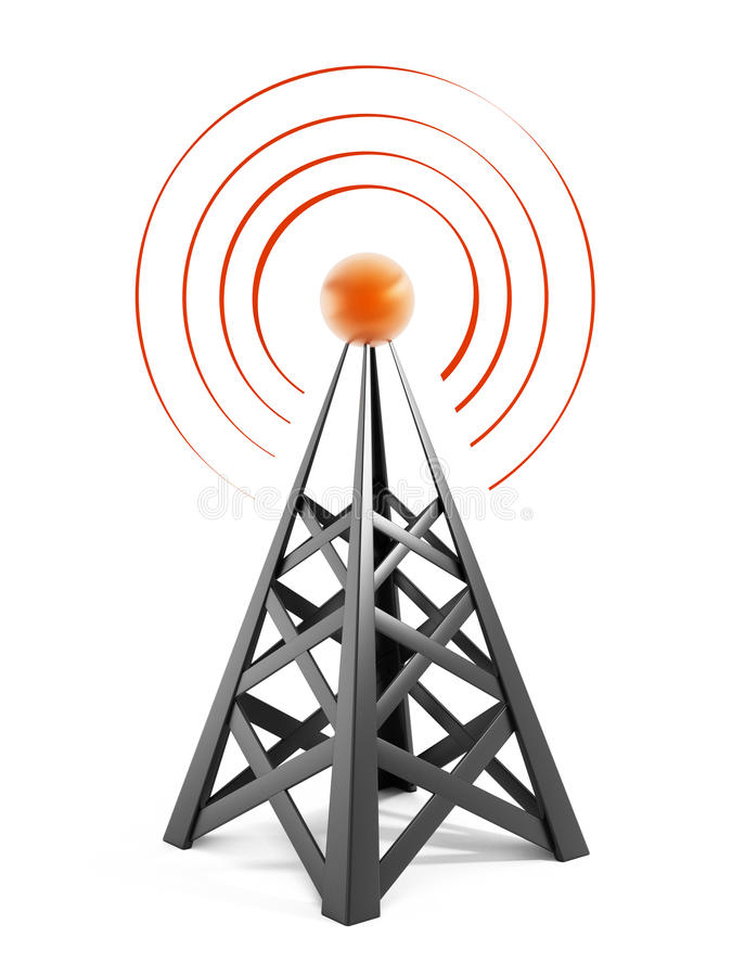 Communications tower stock illustration