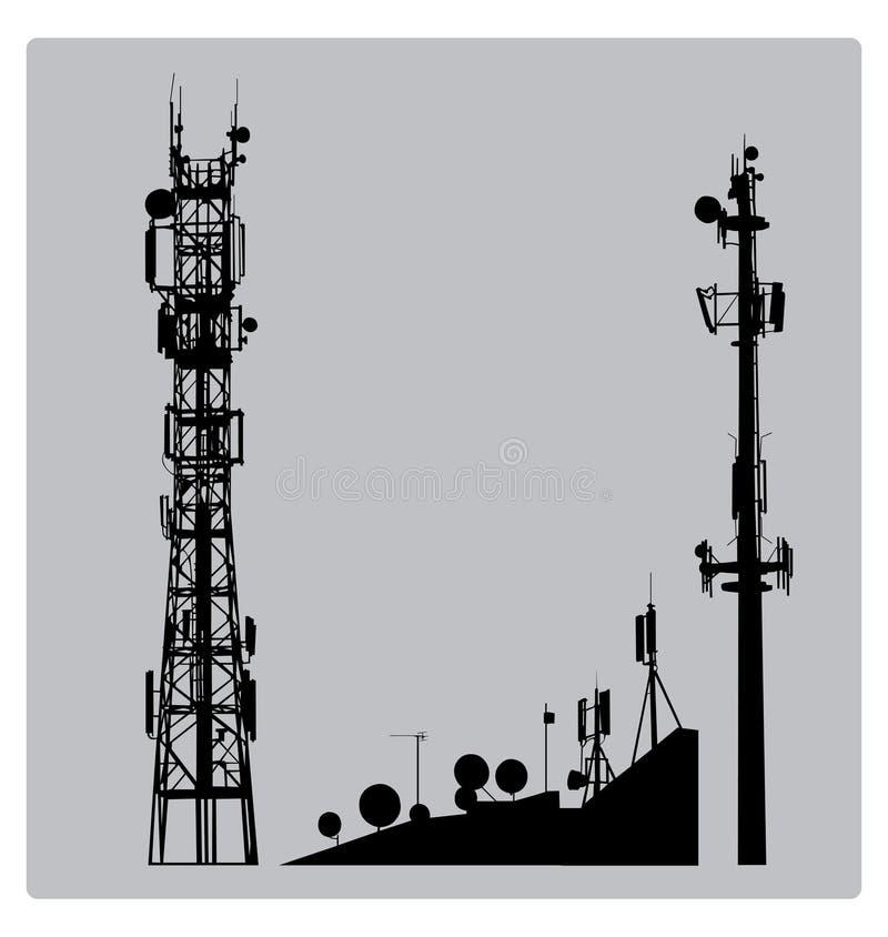 Communicatios Mast stock abbildung