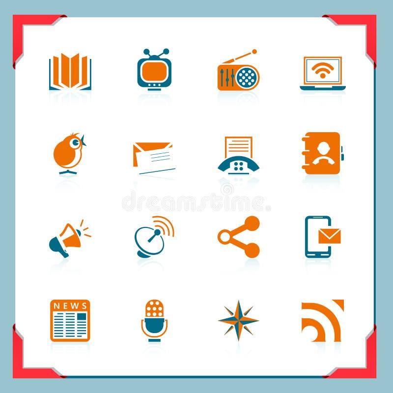 communicaton框架图标系列 向量例证
