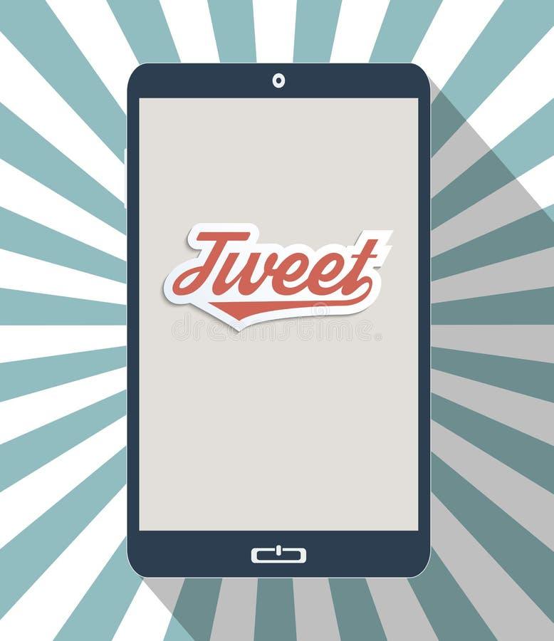 Communicator. Concept for social network and social media. Flat design illustration stock illustration