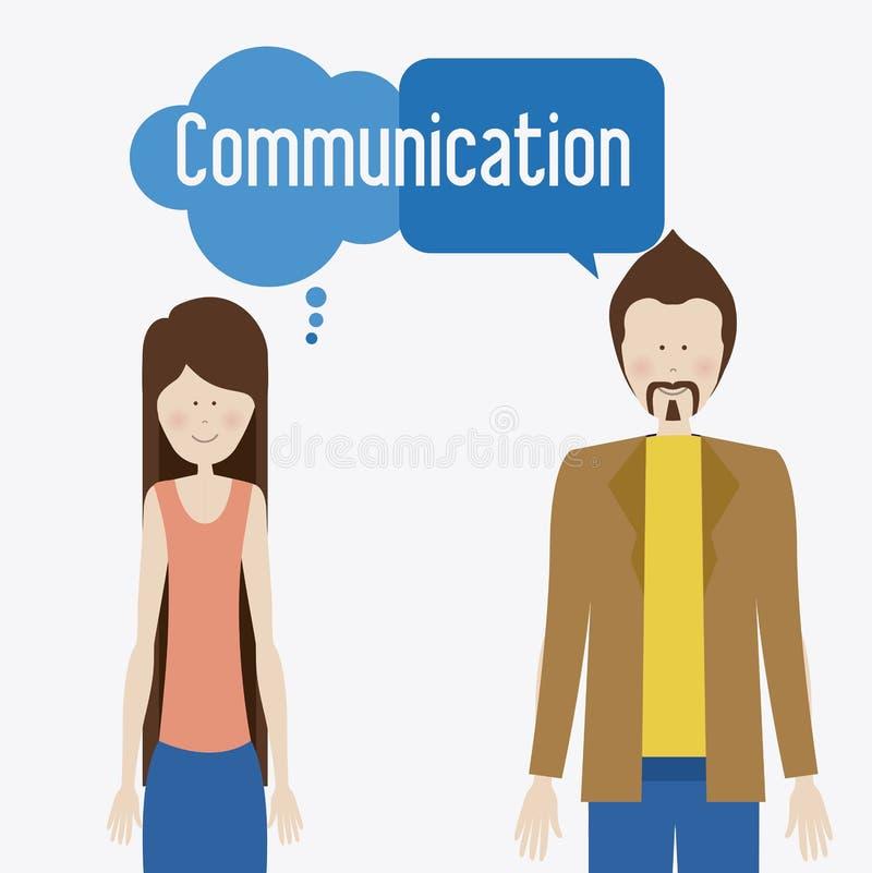 Communiceer, desing, vectorillusttration stock illustratie