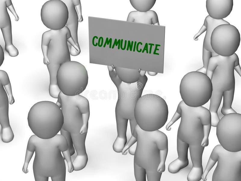Communiceer het Teken Spreker of Bespreking toont stock illustratie