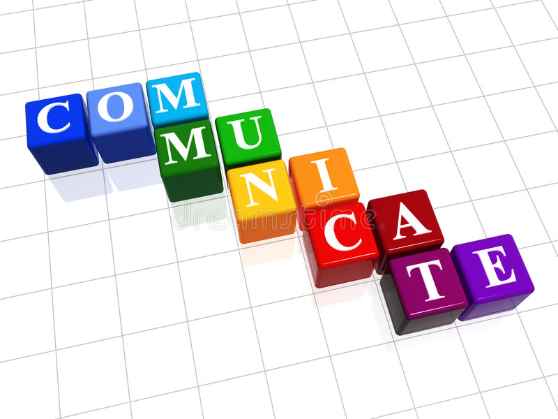 Communiceer in kleur stock illustratie
