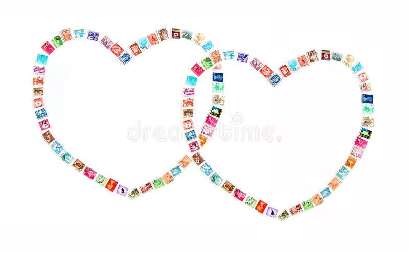 Communiceer met liefdeconcept stock fotografie
