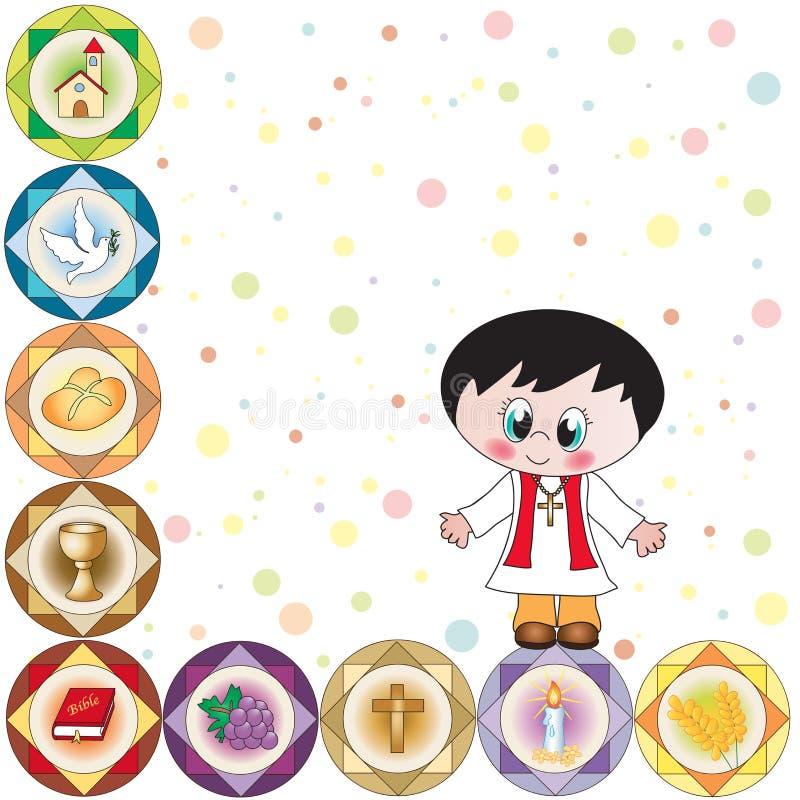 Communion boy royalty free illustration