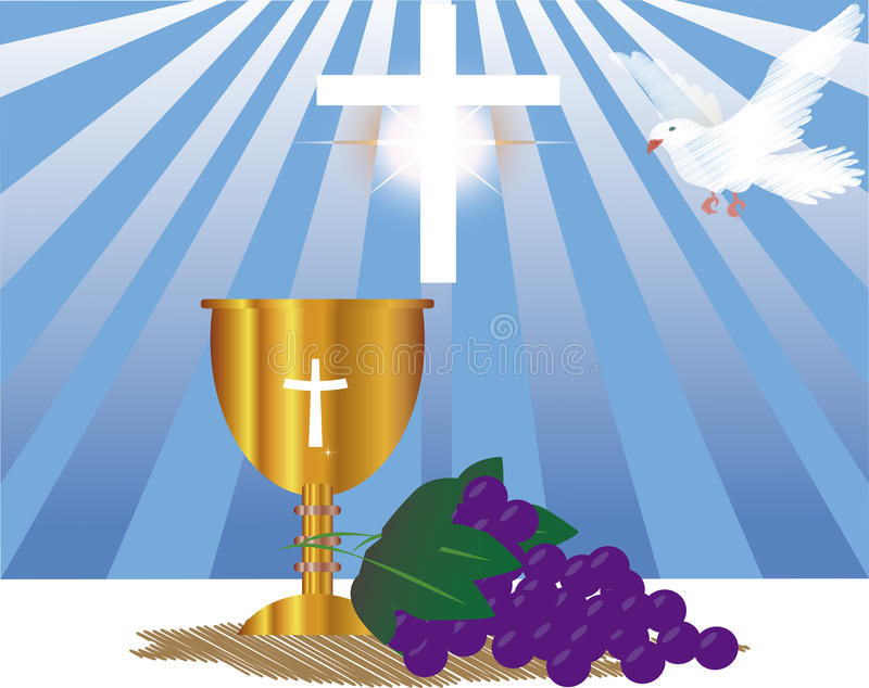 Communion Card template royalty free illustration