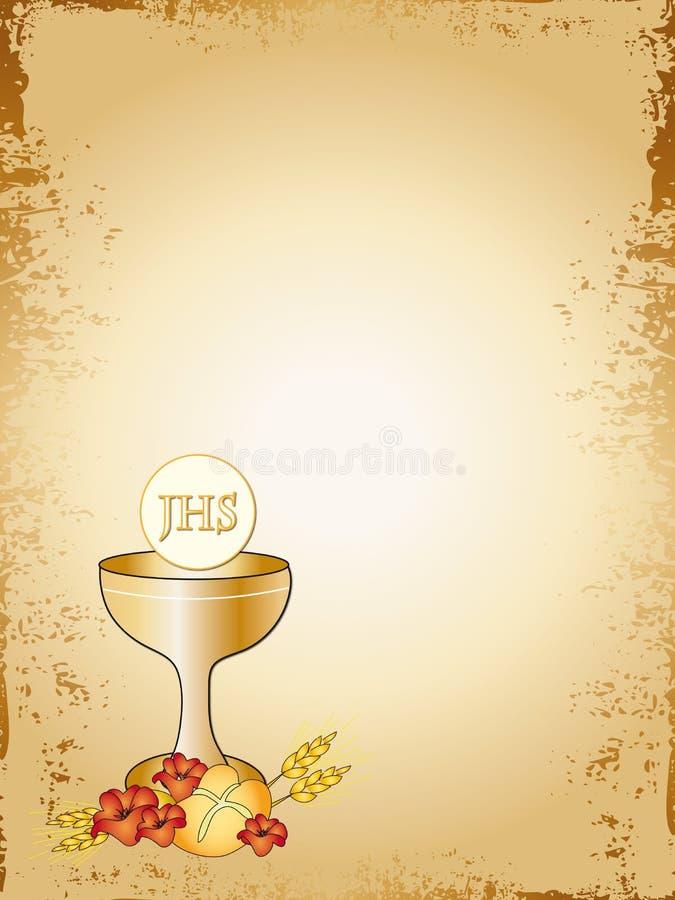 communion d'abord illustration de vecteur