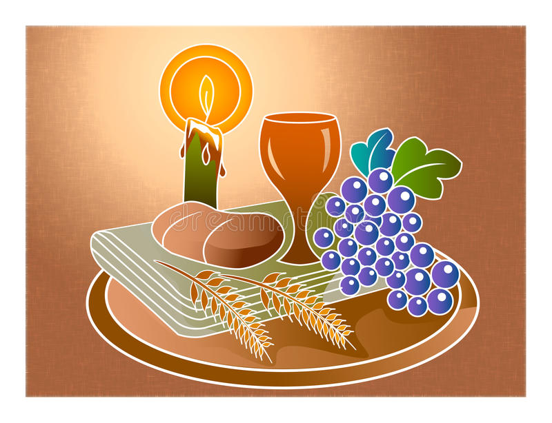 Communion de Holi illustration stock