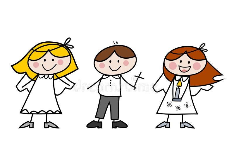 communion dzieciaki ilustracji
