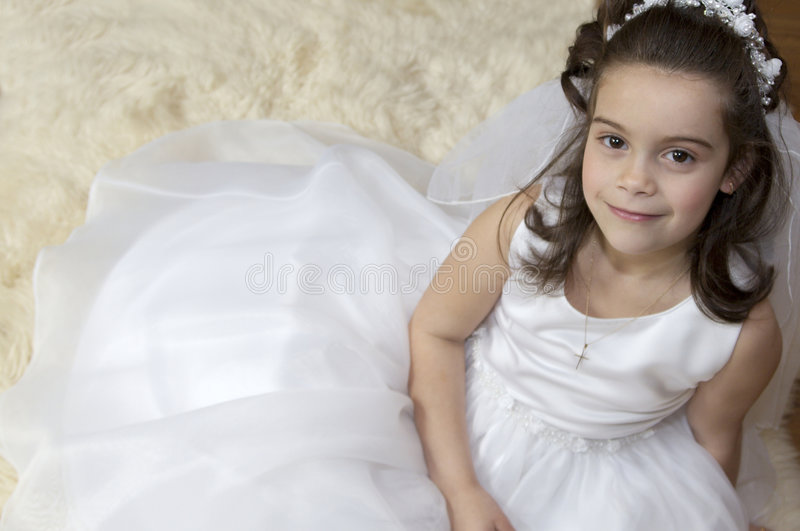 Download Communion Girl stock photo. Image of catholic, sitting - 5035664