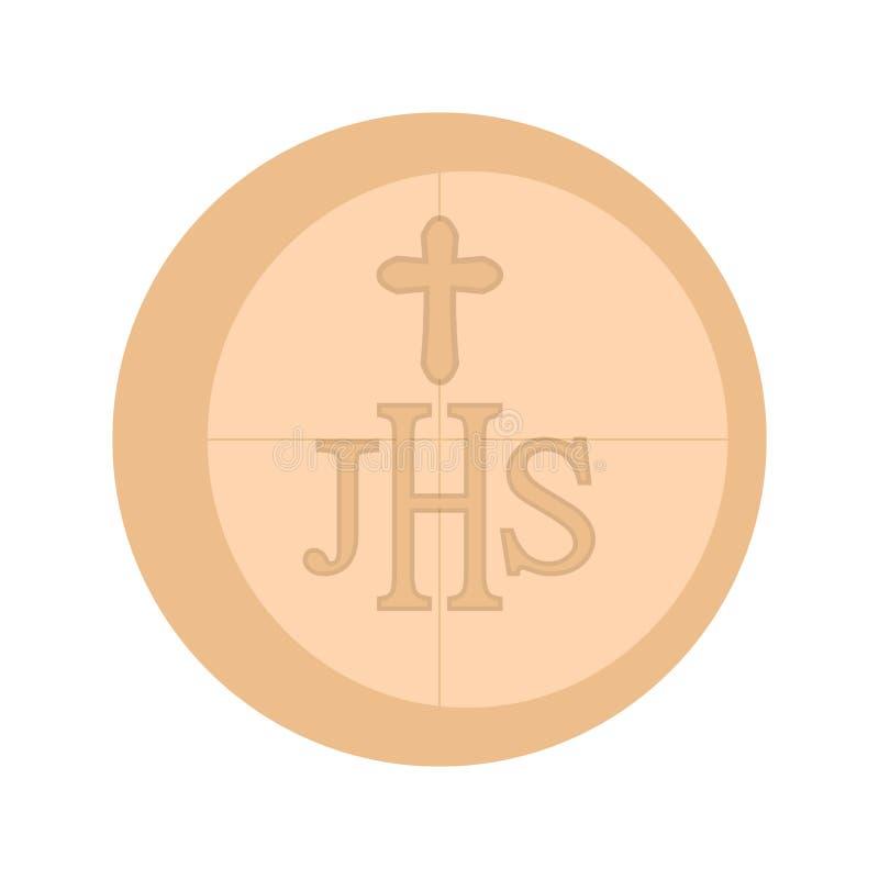 Communion host icon. Isolated communion host icon. Vector illustration design royalty free illustration