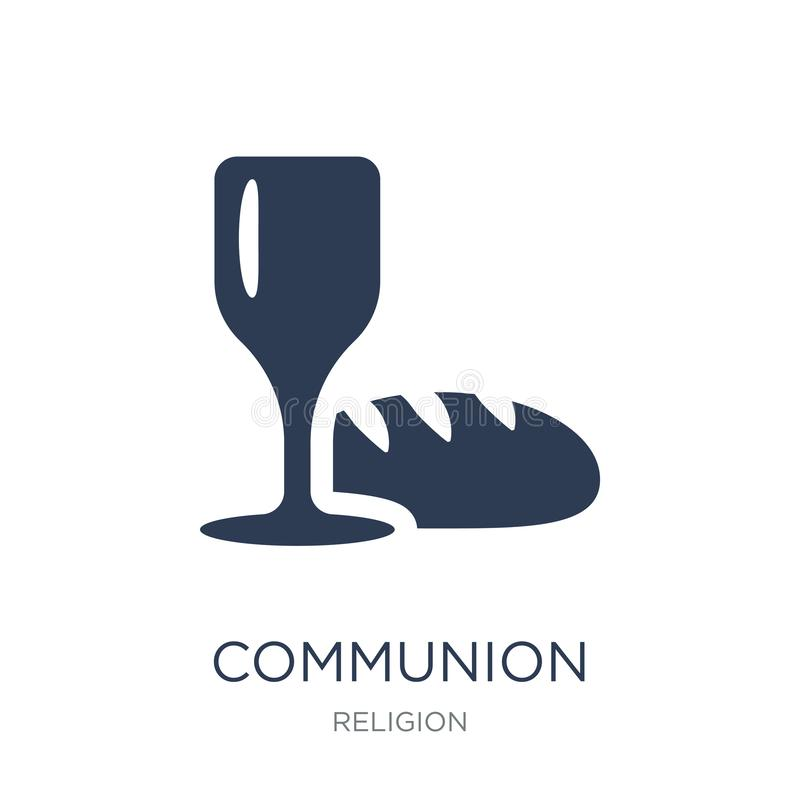 Communion icon. Trendy flat vector Communion icon on white background from Religion collection stock illustration