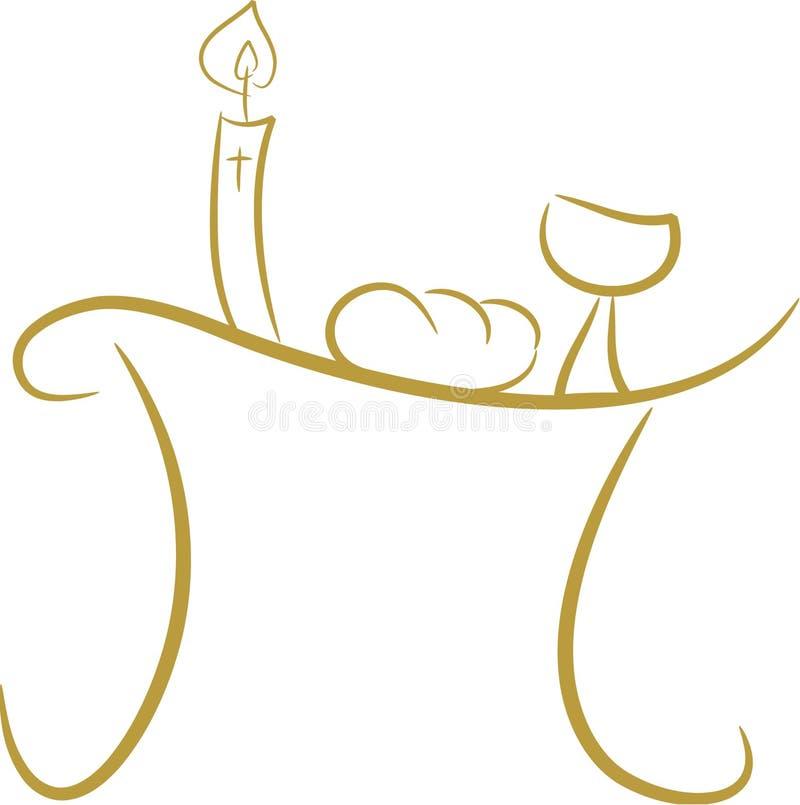 communion stół ii ilustracja wektor