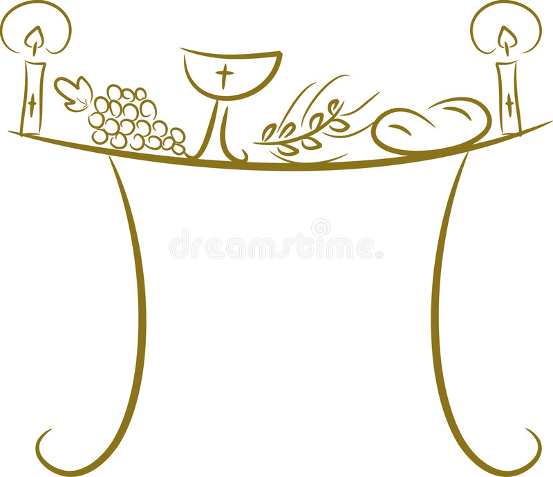Communion table stock illustration