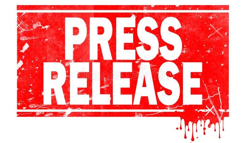 Communiqué de presse dans le cadre rouge illustration libre de droits