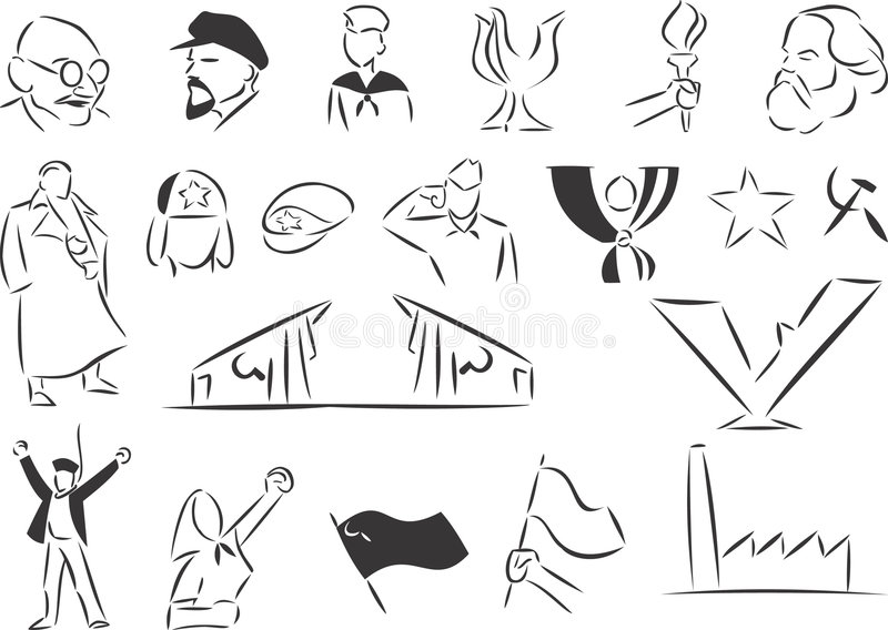 Communisme royalty-vrije illustratie
