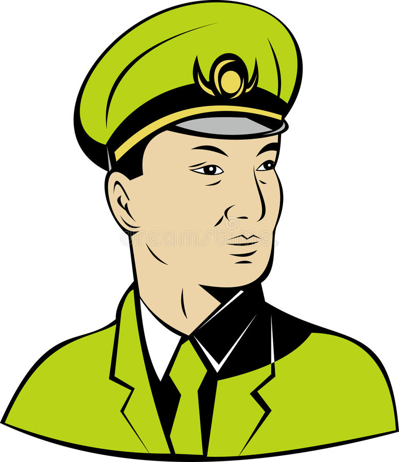 Download Communist  Chinese general stock illustration. Image of waist - 11162485