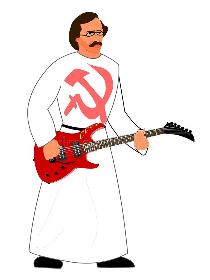 Download Communist musician stock illustration. Image of picture - 12556177