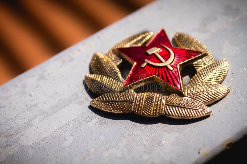 Communist Soviet Badge royalty free stock photo