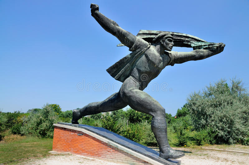 Communist Statue, Memento Park. A picture of a communist statue in Memento Park / Szobor Park just outside Budapest, Hungary. In this park there is an exposition royalty free stock image