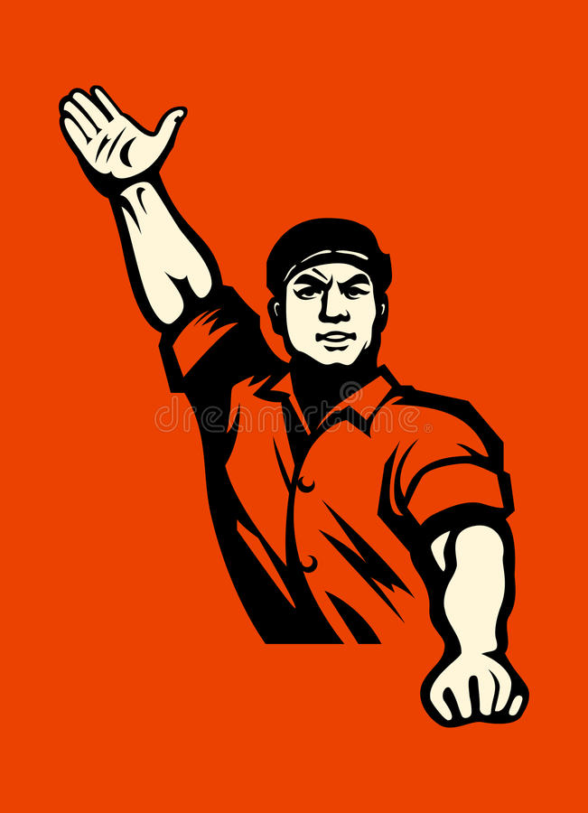 Download Communist worker stock vector. Image of faith, conflict - 26706481