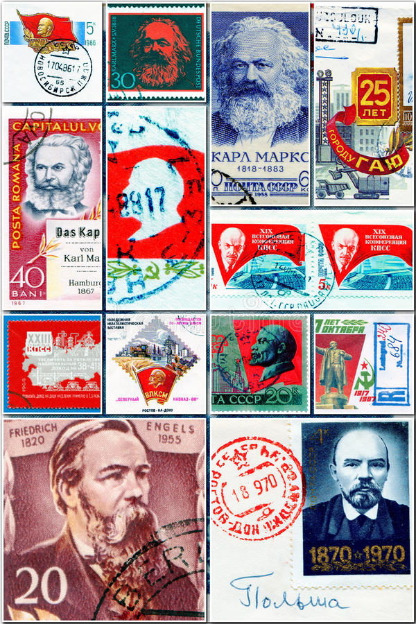 Communists collage. See my other works in portfolio royalty free stock photo