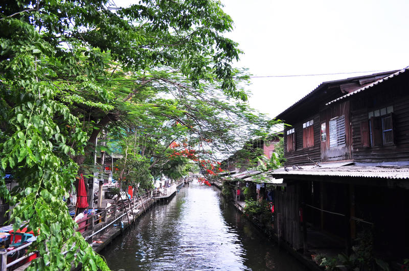 Download Community along the canal stock photo. Image of trader - 33575888