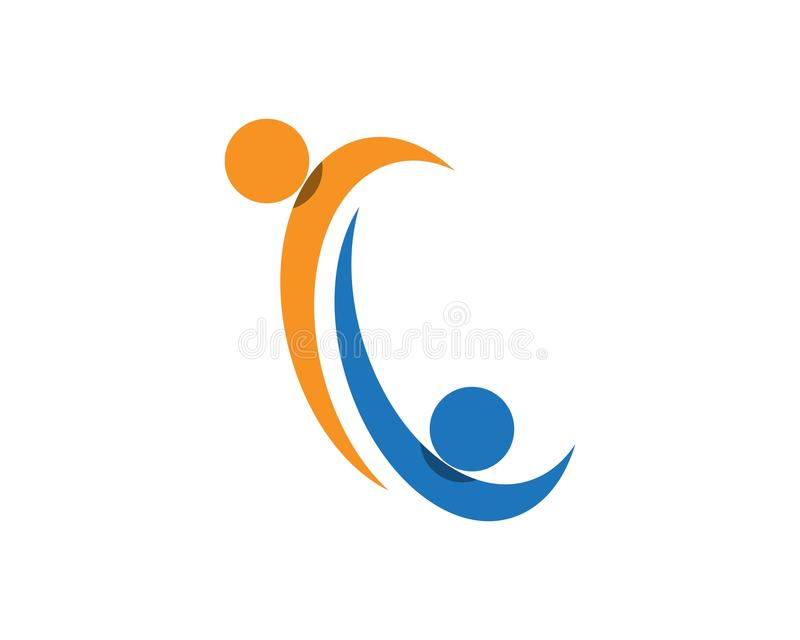 Community Care Logo symbol.  vector illustration