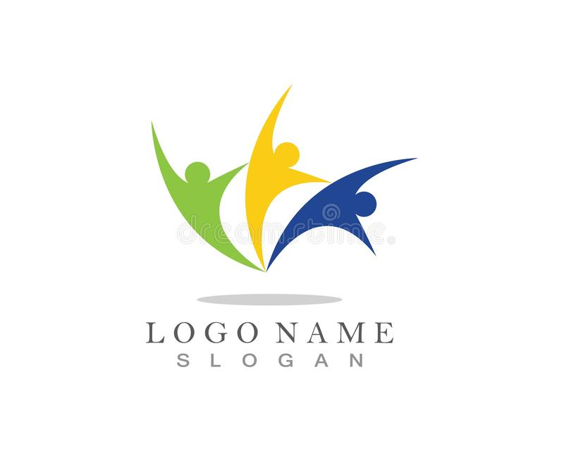 Community care logo and symbol icon vector.  royalty free illustration