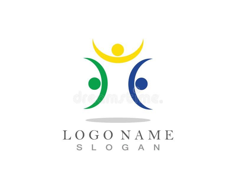 Community care logo and symbol icon vector.  vector illustration