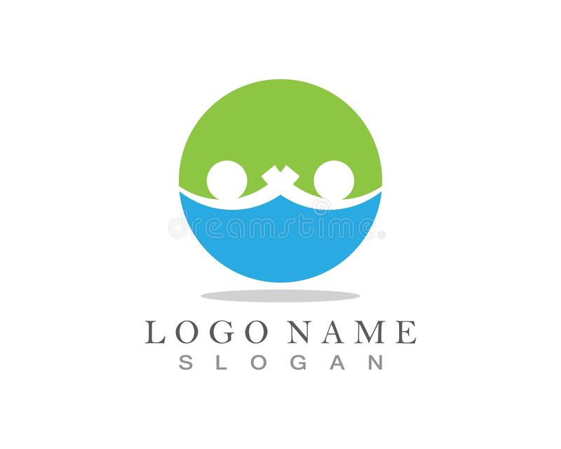 Community Care Logo and symbol template.  royalty free illustration