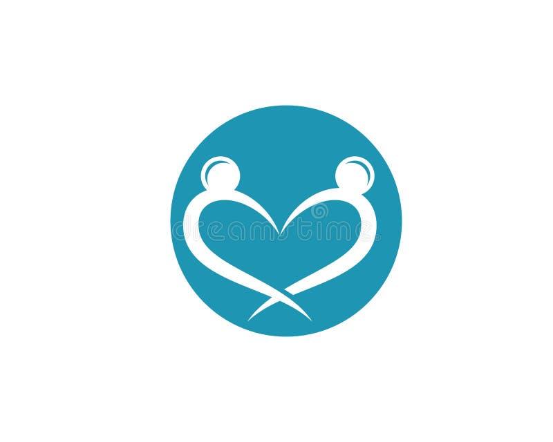 Community care Logo template. Adoption and Community care Logo template vector icon stock illustration