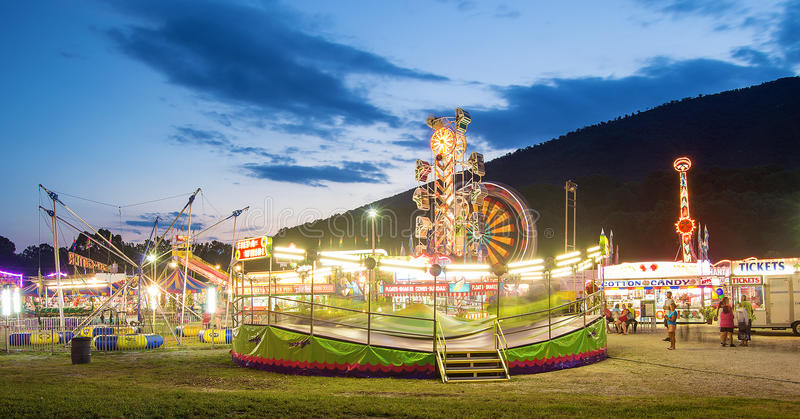 Community Carnival at Night stock photography