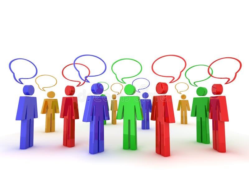 Download Community chatting stock illustration. Image of modern - 8424130