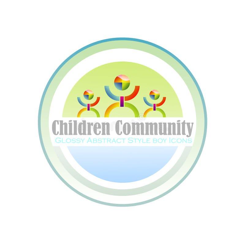 Community Children Symbol royalty free illustration