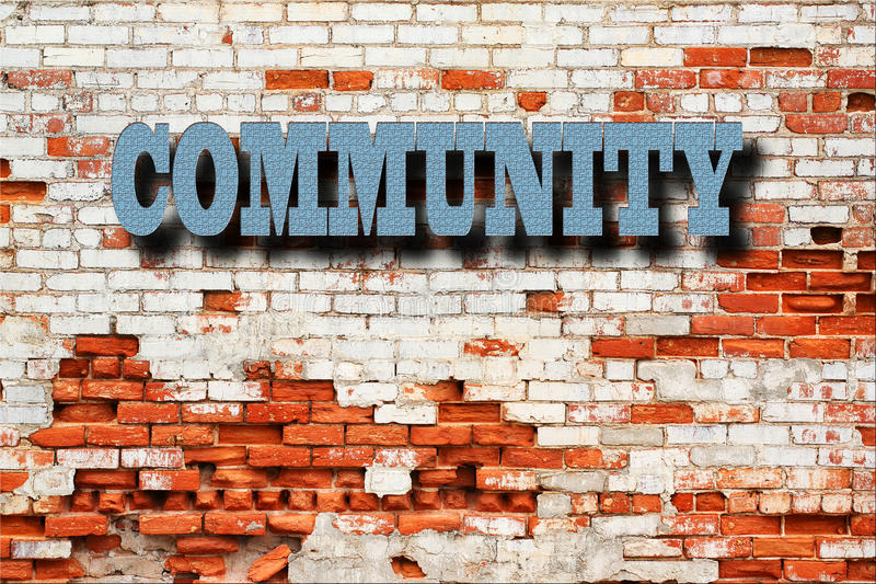 Community Concept - Community sign stock photography