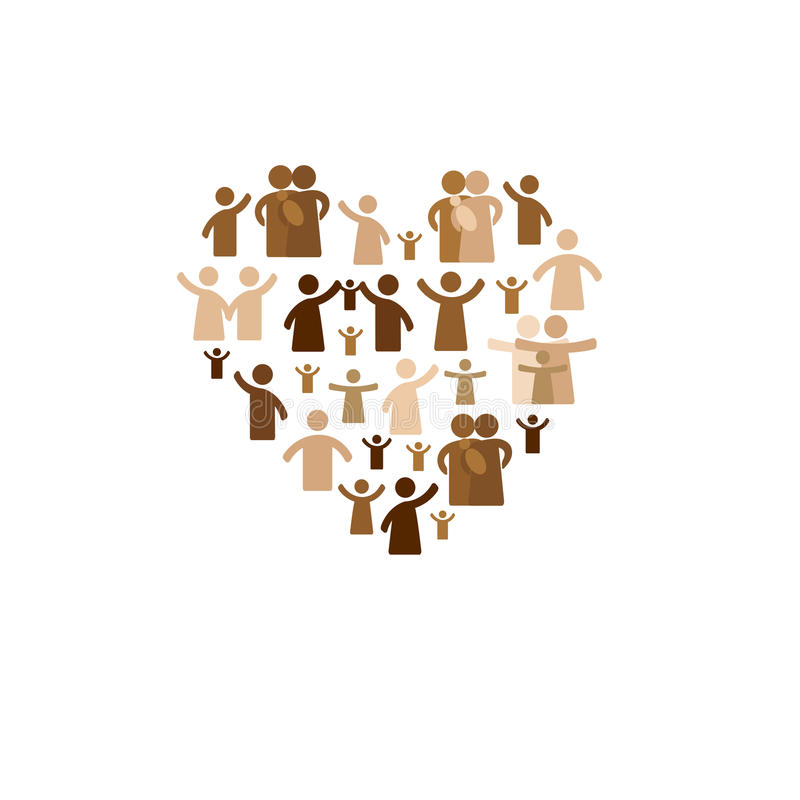 Community concept. Pictogram showing figures happy family royalty free illustration