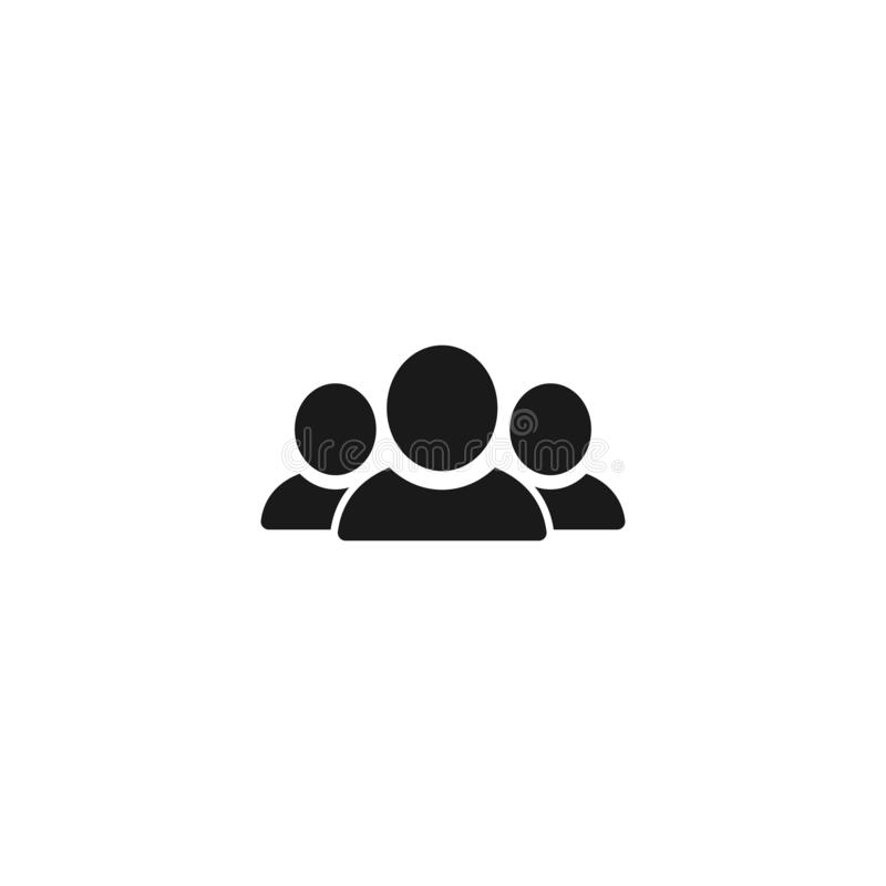 community icon. group people isolated on white. vector flat web symbol royalty free illustration