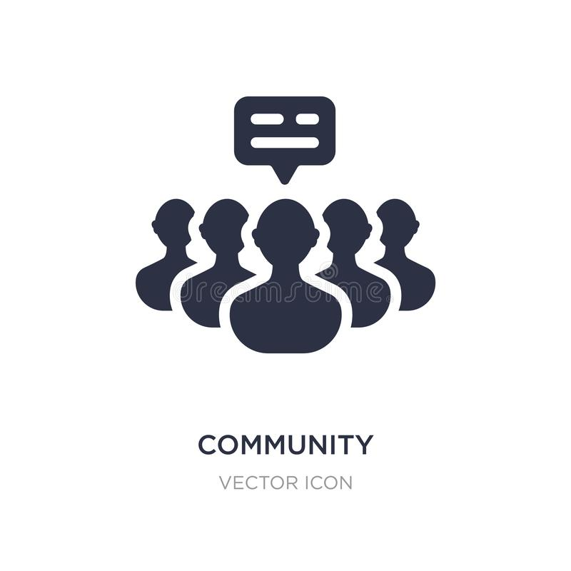 Community icon on white background. Simple element illustration from Blogger and influencer concept. Community sign icon symbol design stock illustration