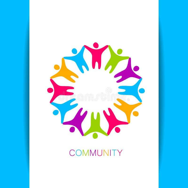 Community logo design template royalty free illustration